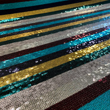 Load image into Gallery viewer, Sequin Stripe - Rainbow