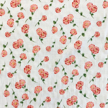 Load image into Gallery viewer, Self-Stripe Daisy Voile Print - White