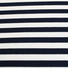 Load image into Gallery viewer, Cotton Spandex Mini Stripe - Black/White