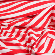 Load image into Gallery viewer, Cotton Spandex Mini Stripe - Red/White