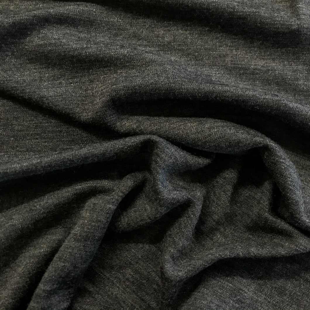 Merino Interlock Knit - Charcoal