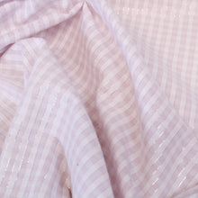 Load image into Gallery viewer, Metallic Pinstripe Gingham - Pink