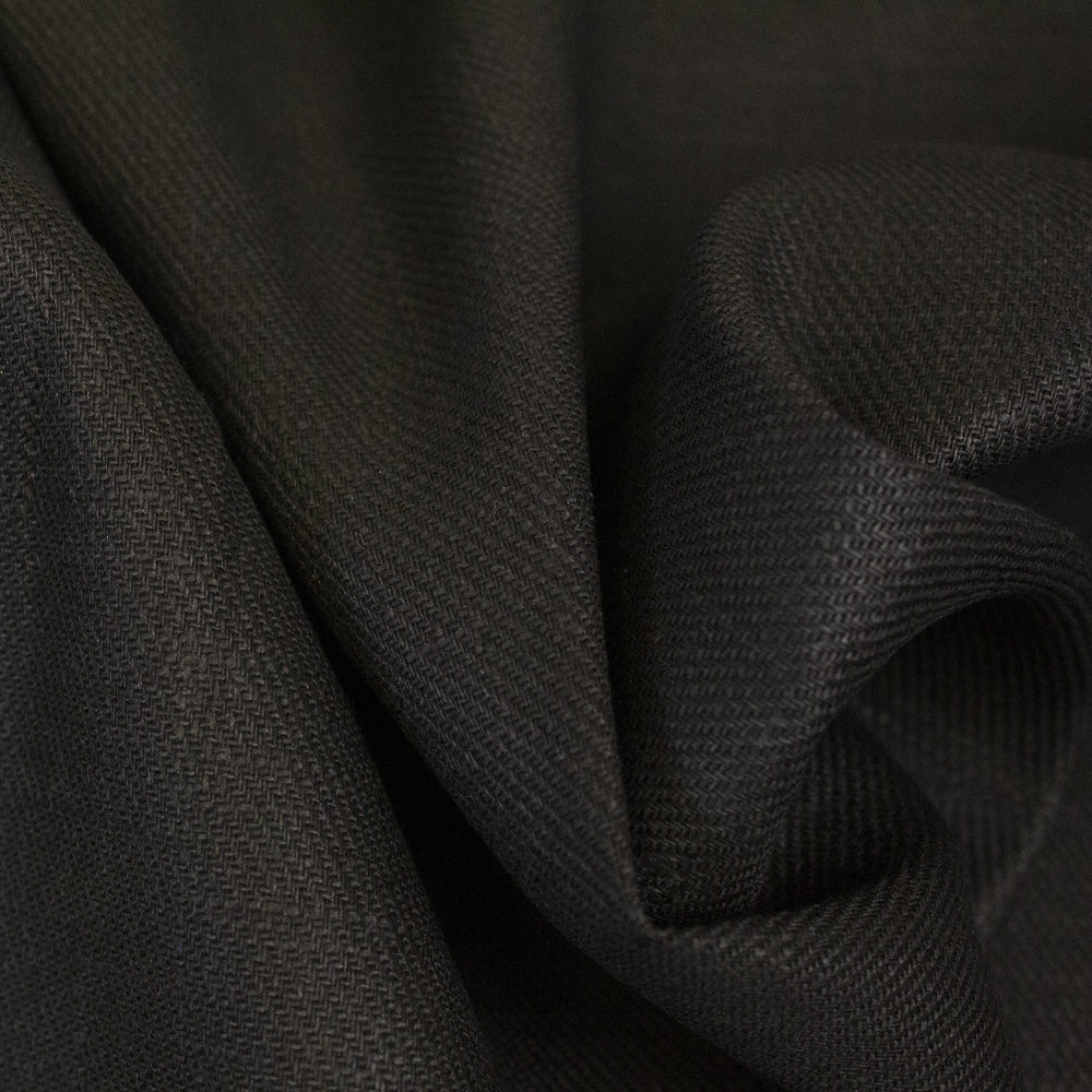 Linen Cotton Spandex - Black