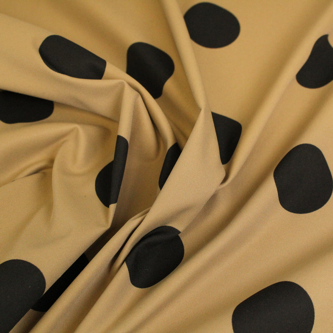 Polka Dot Trench - Tan