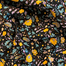 Load image into Gallery viewer, Dream Garden Poplin Print - Black