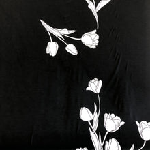 Load image into Gallery viewer, Tulip Print Jersey - Black