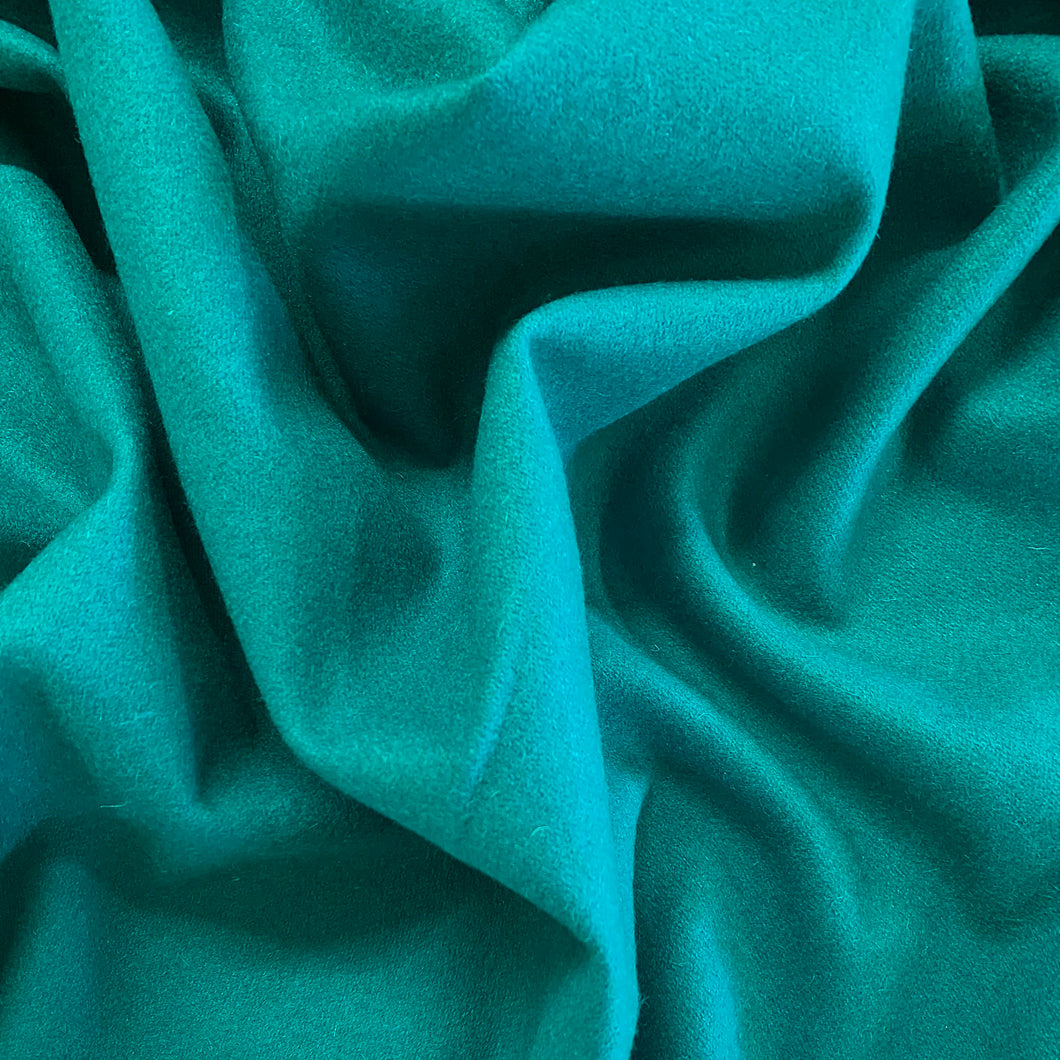 Wool Viscose Melton Coating - Aqua