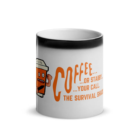 Glossy Magic Mug - Jitters the Stabby Coffee Cup