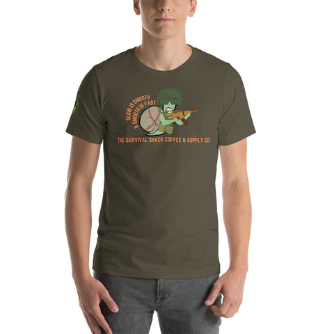 "Sheldon the ""Smooth Operator"" Snail Short-Sleeve Unisex T-Shirt"
