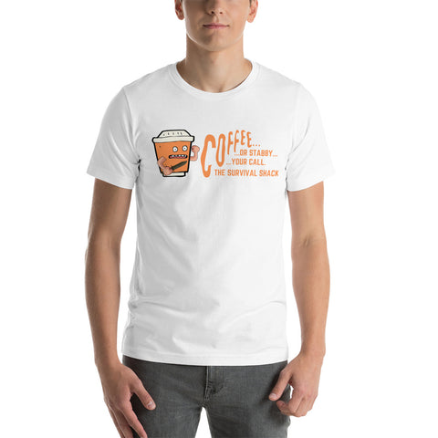 Jitters the Stabby Coffee Cup Short-Sleeve Unisex T-Shirt