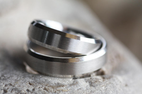 Couples Wedding rings, White Gold Engagement rings