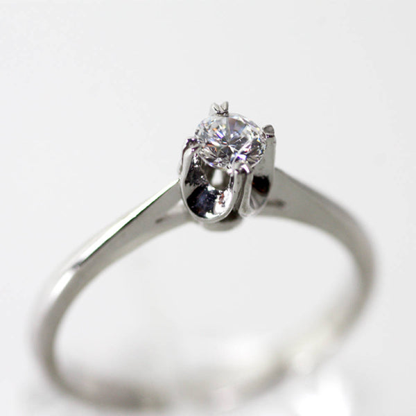Diamond Solitaire Engagement Ring, Gold Anniversary Diamond rings
