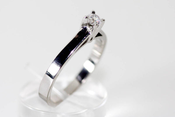 Solitaire Wedding Ring, Diamond White gold ring, Brilliant cut engagement ring