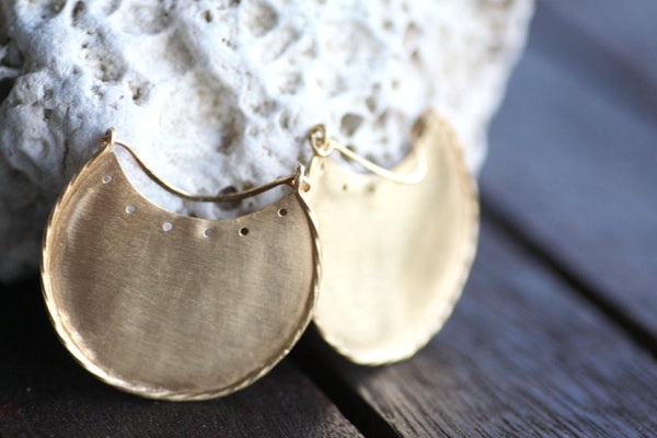 Gold plated Dangle earrings, Handmade Silver earrings