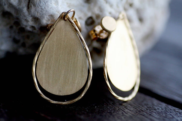 Gold plated dangle Silver earrings