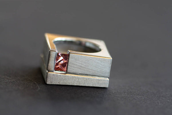 Tourmaline Statement Ring Handcrafted tourmaline on gold plated ring