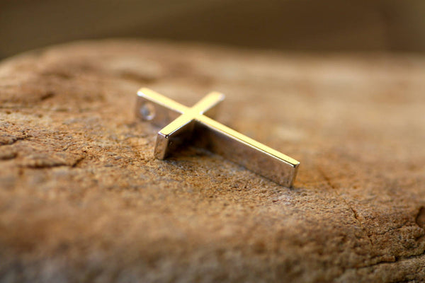 Engraved Baptism Solid Gold Cross