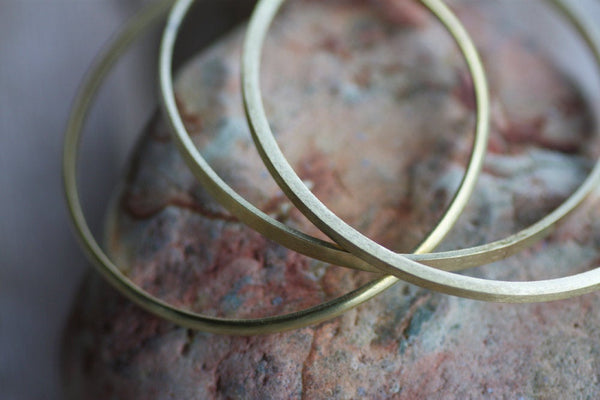 Silver bangle set of 7, Textured silver bangles