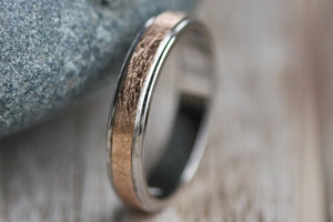 Chic Gold Wedding ring / Elegant Thin women ring / Handwriting engraved gold ring / Gift for him / Valentines Day gift
