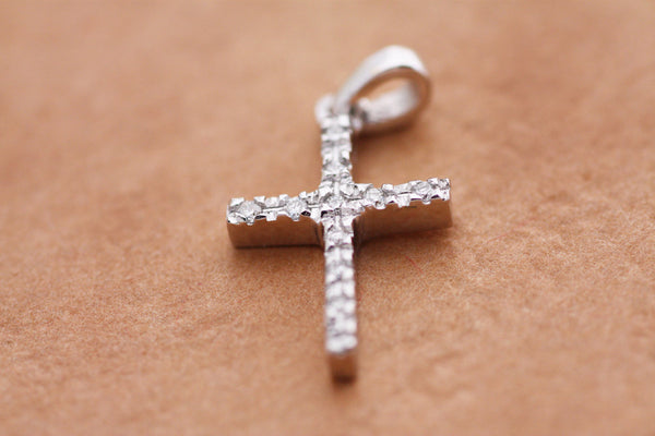 Diamonds Cross Gold Pendant Fine Gold Diamond Cross Necklace