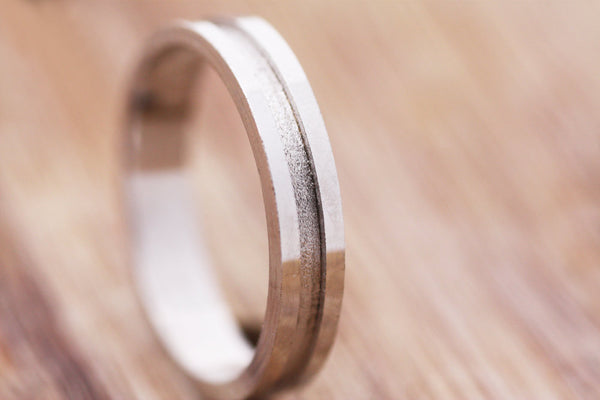 Geometrical Gold Wedding Ring