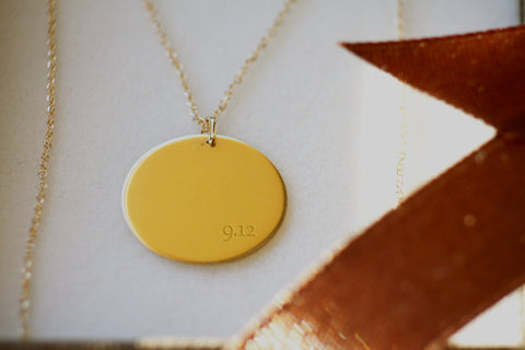 Gold Elegant Women necklace Personalized Engraved initial gold Necklace, Mothers Day gift, Bridesmaid gifts, Small gold Pendant
