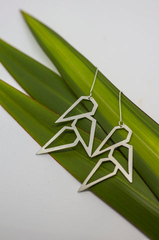 Fala silver earrings