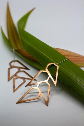 Fala copper earrings