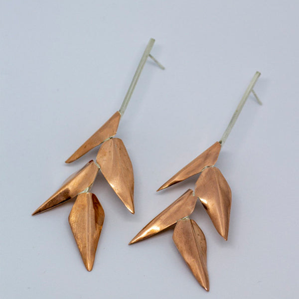 Fala copper pod earrings