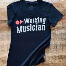 Load image into Gallery viewer, WOMEN'S WORKING MUSICIAN® FASHION CREW, BY AIRGIGS