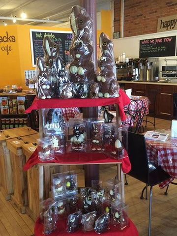 EMVI Chocolate Bunny Display