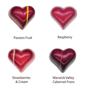 Gourmet Chocolate Hearts (4 Pieces)