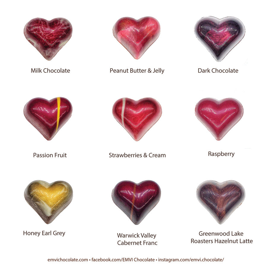 Gourmet Chocolate Hearts (9 Pieces)