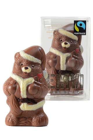 Chocolate Santa Bear