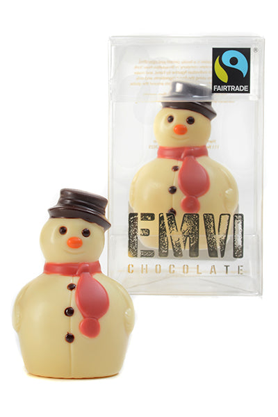 Fair Trade White Chocolate Snowman