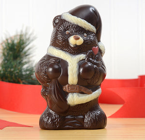 Fair Trade Chocolate Santa Bear - Dark Chocolate