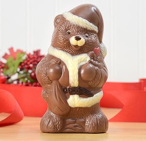 Fair Trade Chocolate Santa Bear - Milk Chocolate