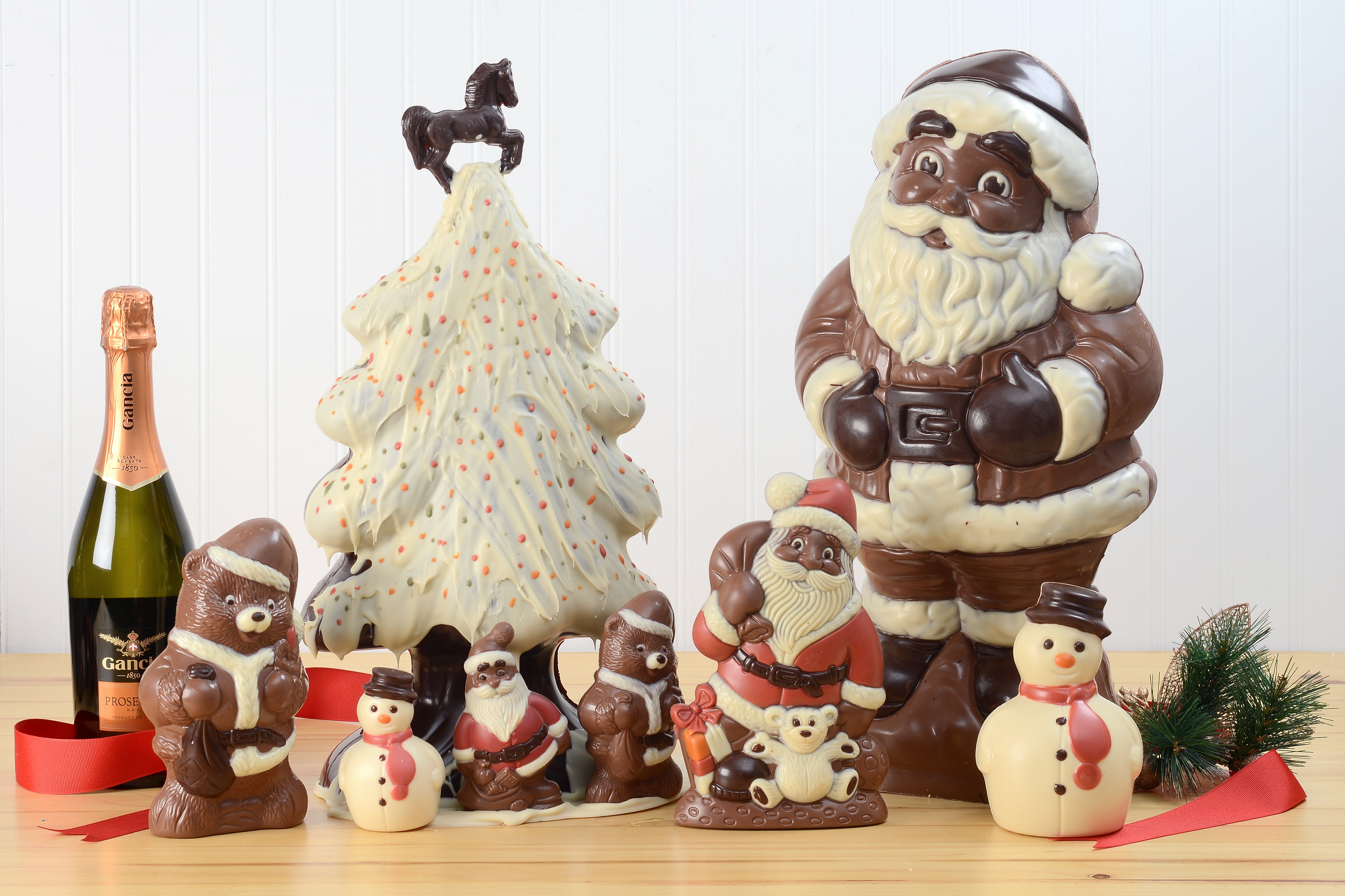 Milk Chocolate Santa Claus with Gifts