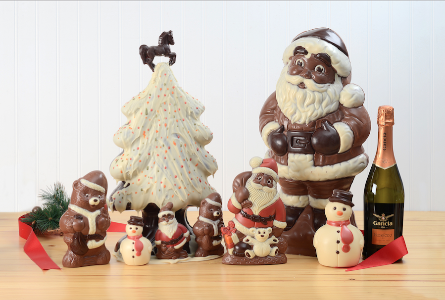 Giant Chocolate Santa