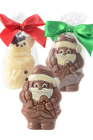 Chocolate Santa Stocking Stuffers  (Pack of 3)