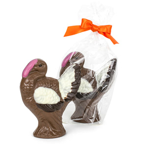 8 ozs of delicious Chocolate hand-crafted into handsome turkeys for Hostess gift & Thanksgiving treat