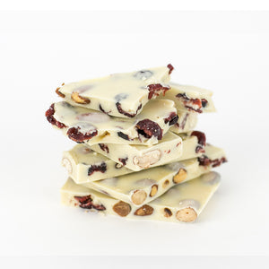 White Chocolate Almond Cranberry Bark