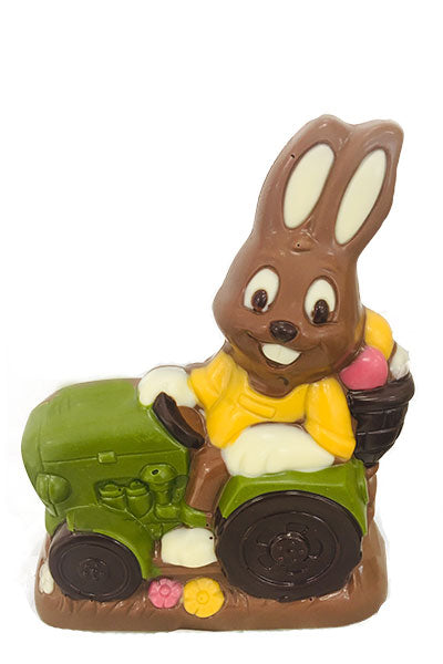 Easter Bunny on Tractor