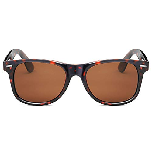 EPIC X RETRO WAYFARER Unisex Polarized Sunglasses Men Women Retro Designer Sun Glasses (Tortoise)