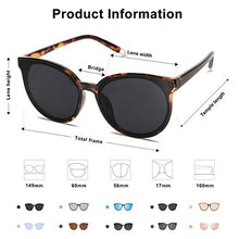 Load image into Gallery viewer, EPIC X ANNA Fashion Round Sunglasses for Women Men Oversized Vintage Shades SJ2057 with Tortoise Frame/Grey Lens and T