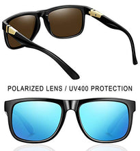 Load image into Gallery viewer, EPIC X RETRO WAYFARER Polarized Sunglasses for Men Women Square Sun Glasses UV Blocking (Blue Retro)