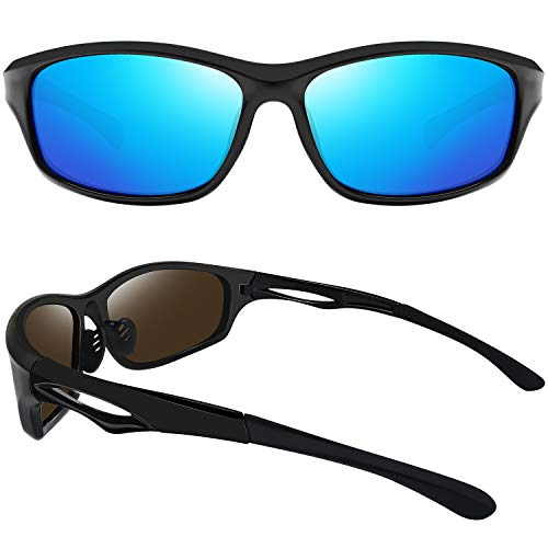 EPIC X STING Polarized Sport Sunglasses for Men Women UV400 Protection Sports Sun Glasses Shades (Ice Blue)