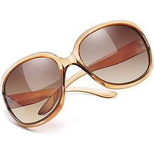 Load image into Gallery viewer, EPIC X AVA Oversized Polarized Sunglasses for Women, Ladies Fashion Thick Big Frame Sun Glasses Shades for Women (Gradient Brown)