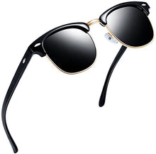 Load image into Gallery viewer, EPIC X CARTER Semi Rimless Polarized Sunglasses Women Men Retro Brand Sun Glasses (Brilliant Black Simple packaging)