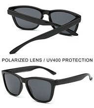 Load image into Gallery viewer, EPIC X RETRO WAYFARER Unisex Polarized Sunglasses Men Women Elegant Square Sun Glasses (Black Pro Simple Packaging)